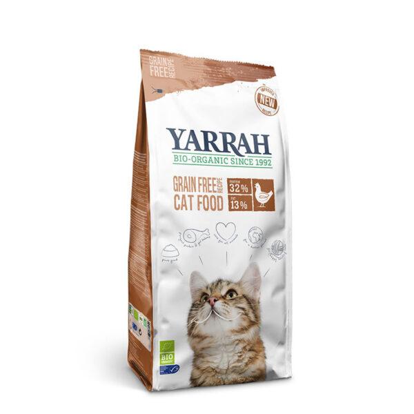 Pienso para gatos de pollo sin cereales bio 2.4kg Yarrah