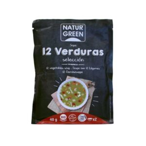 Sopa de 12 verduras sobre 40g Naturgreen