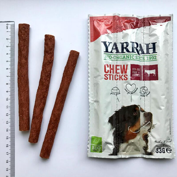 Sticks masticables de ternera y algas para perros bio 33 g Yarrah