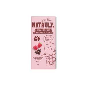 Tableta de Chocolate con frambuesa y nibs de cacao 72% 85g Natruly