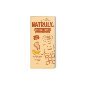 Tableta de Chocolate con naranja y jengibre 70% 85g Natruly