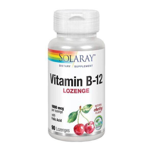 Vitamina B12+Acido Folico 1000mcg 90comp Solaray