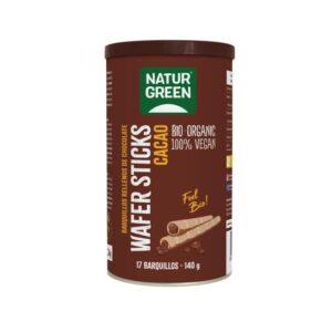 Barquillos stick rellenos de chocolate Bio 140g NaturGreen