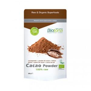 Cacao raw powder (cacao en polvo) superfood bio 200g Biotona