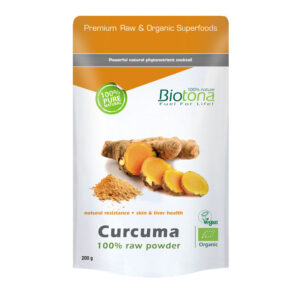 Curcuma raw powder bio 200g Biotona
