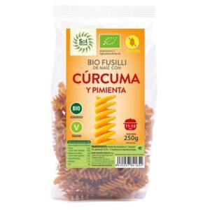 Fusilli de Maiz curcuma y pimienta s/gluten Bio 250g Sol Natural