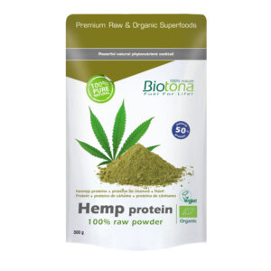 Hemp raw protein powder (proteina de cáñamo) superfoods bio 300 g Biotona