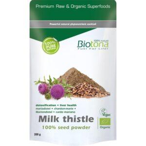 Milk thistle (Cardo Mariano polvo) Bio 200g Biotona