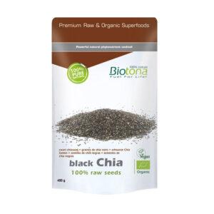 Semillas de Chia Negra (Black chia raw seed) bio 400g Biotona