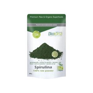 Espirulina raw powder superfood bio 200g Biotona