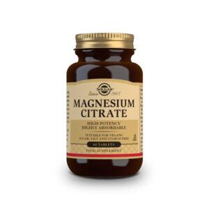 Citrato de Magnesio 200mg 60 comprimidos Solgar