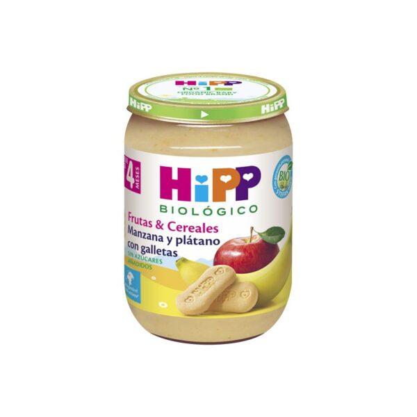 Potito de Manzana y Platano con galletas +4M Bio 190g Hipp