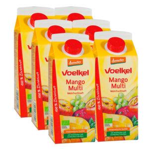 Zumo de Mango con multifrutas Bio 6x750ml Voelkel