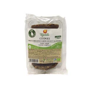 Cookies sarraceno, algarroba, almendra, agave Bio 140g Vegetalia