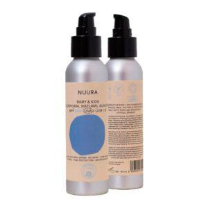 Crema fluida solar natural NIÑOS (kids) SPF+50 Bio 125ml Nuura