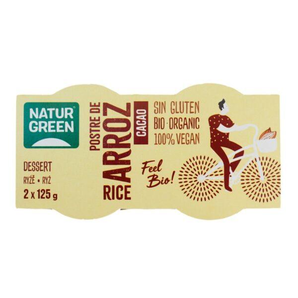Postre de arroz cacao Bio 2x125g Naturgreen