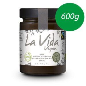 Crema de chocolate negro Bio 600g La Vida Vegan