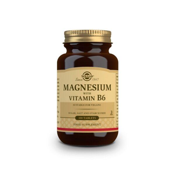 Magnesio con Vitamina B6 100 comprimidos Solgar