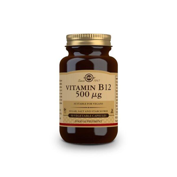 Vitamina B12 (cianocobalamina) 500µg 50vcaps Solgar