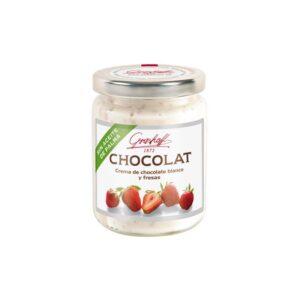 Crema de choco blanco y fresas Gourmet 250g Grashoff