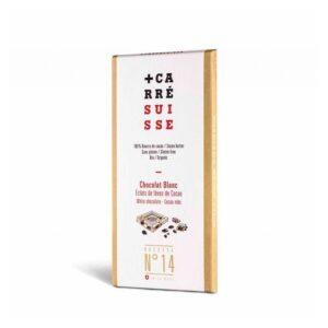 Tableta chocolate blanco & nibs de cacao Bio 100g Carre Suisse