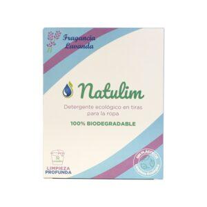 Detergente tiras biodegradable Lavanda 32 lavados Natulim