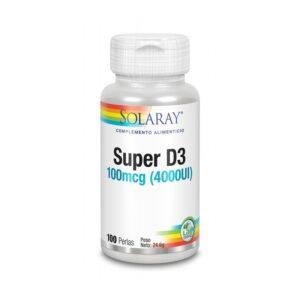 Super D3 4000UI 100 perlas Solaray